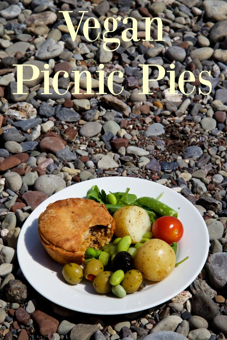 Vegan Picnic Food - Vegan Hot Water Crust Raised Picnic Pie.