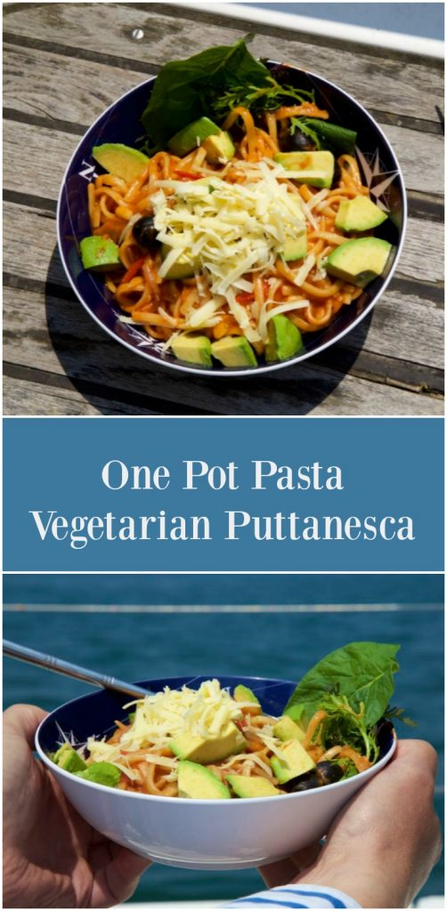One Pot Pasta Puttanesca.