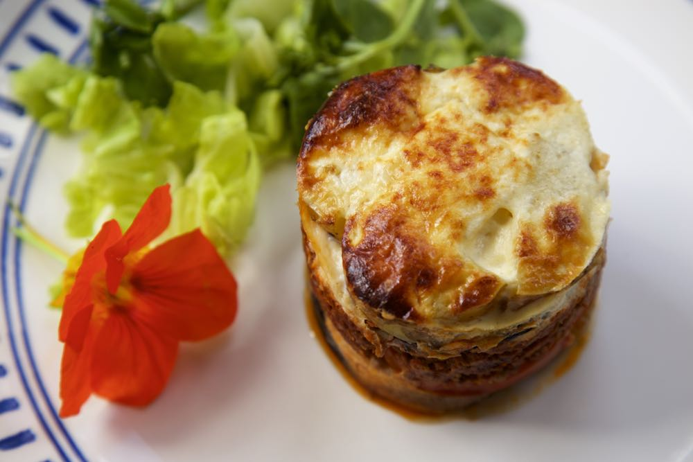 Vegetarian Moussaka - Quorn and Aubergine Moussaka. Richly flavoured with tomato, oregano and garlic with a creamy sauce to top it off!