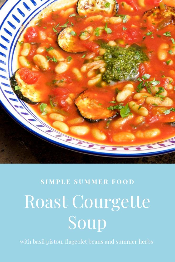 Simple Roast Courgette Soup.