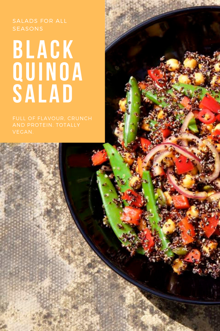 Black Quinoa Salad in a bowl.