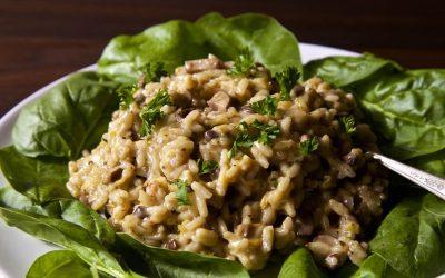 Easy Vegan Mushroom Risotto