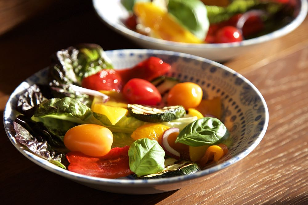 This grilled vegetable salad is summer on a plate!