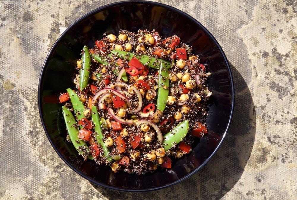 Black Quinoa and Spiced Chickpea Salad