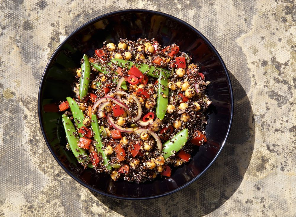 Spiced Chickpea and Black Quinoa Salad