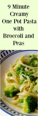 Easy Peasy 9 Minute Creamy One Pot Pasta with Broccoli and Peas