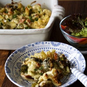 roasted vegetable pasta bake