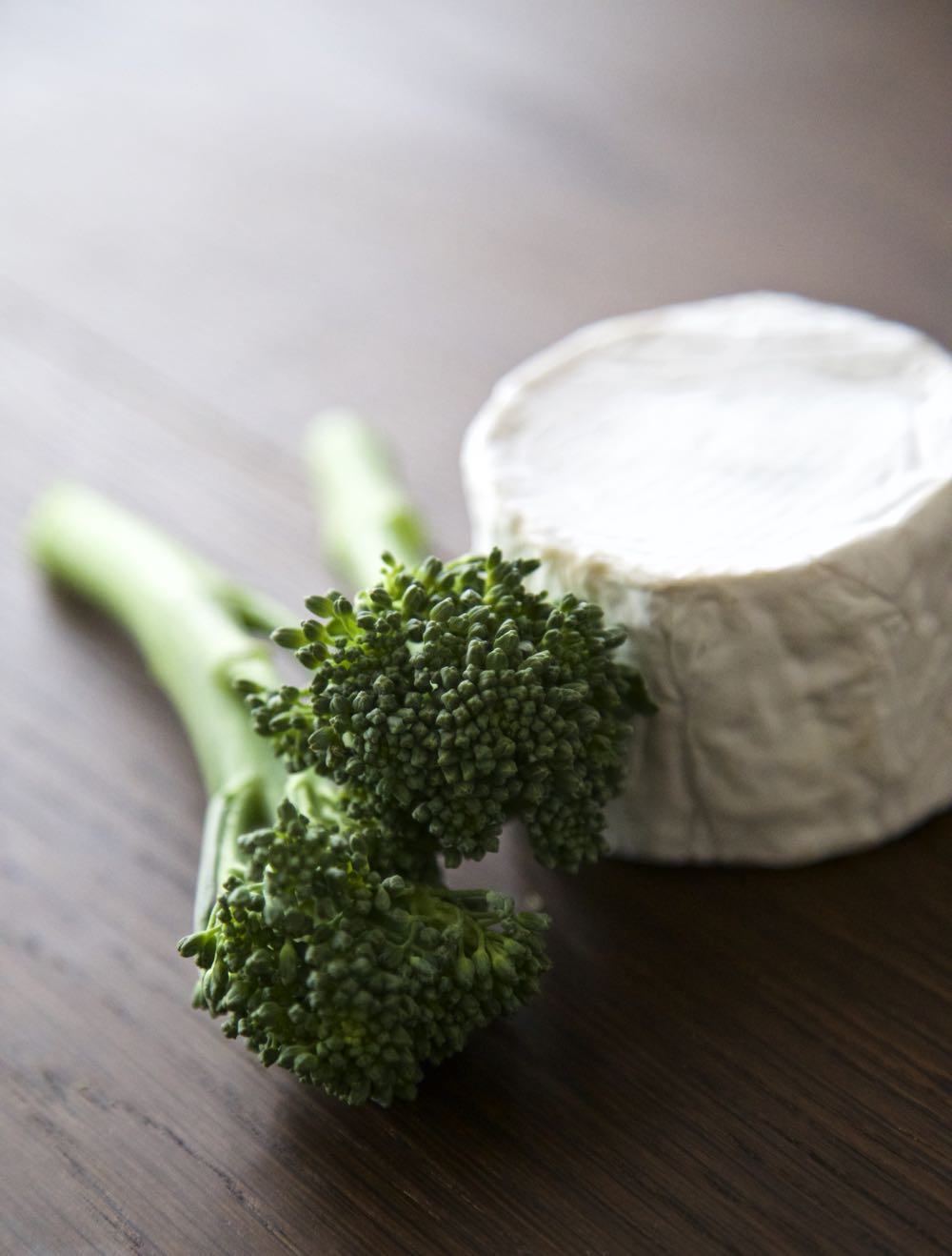 Tenderstem Broccoli with Somerset Goat's Cheese.