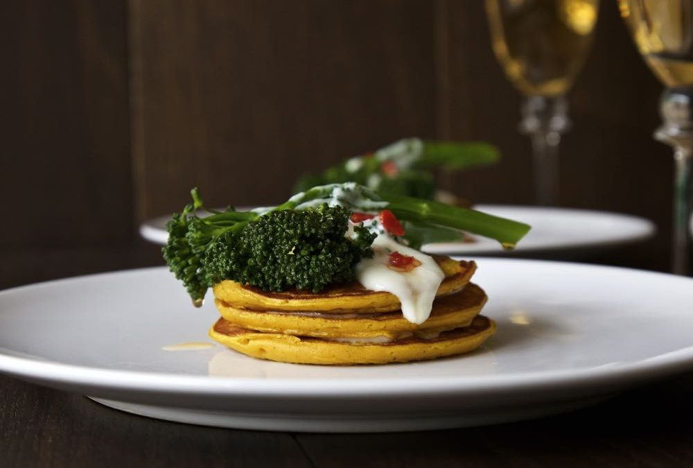 Pumpkin Pancakes with Chilli Fried Tenderstem® Broccoli
