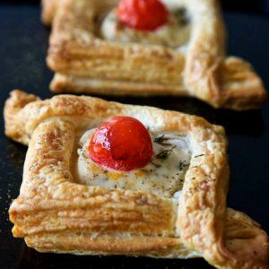 vegan canapés, easy vegan pastries