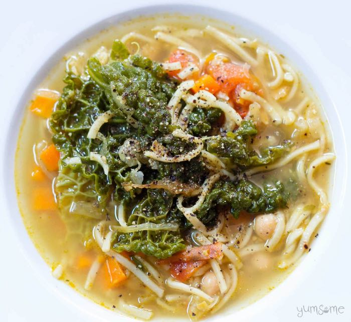 simple weeknight pasta dishes - Tuscan Bean Soup