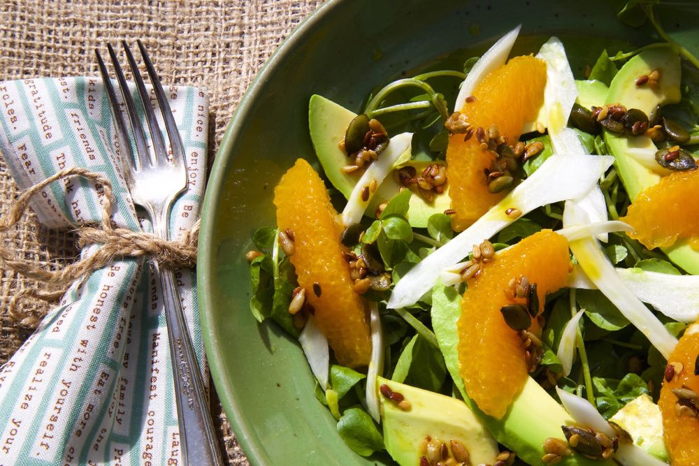 Orange and Fennel Salad with Avocado and Watercress | Thinly Spread