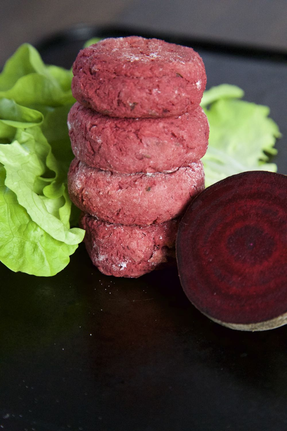 Vegan Beetroot Falafel Recipe - Ruby red beetroot falafel.