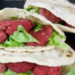 Beetroot Falafel in Pitta Bread