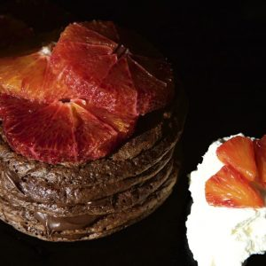 Double Chocolate Orange Pancake Stack