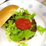 Green Lentil Burgers with Sweet Pepper Sauce