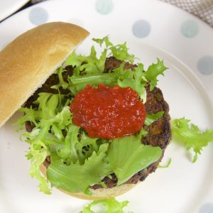 Green Lentil and Sweet Potato Burgers