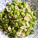 Barley Risotto with Broad Beans and Peas
