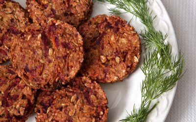 Beetroot and Millet Burgers with Dill Yoghurt