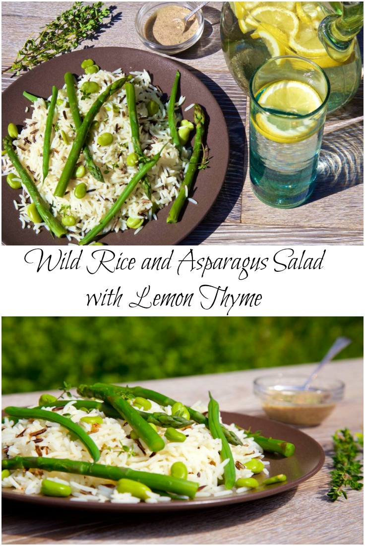 Wild Rice and Asparagus Salad with Lemon Thyme and Sumac - Fresh and zesty and perfect for early summer picnics!