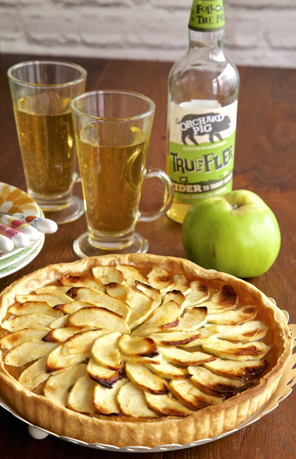 Rustic Cider and Apple Tart - A vegan apple tart recipe