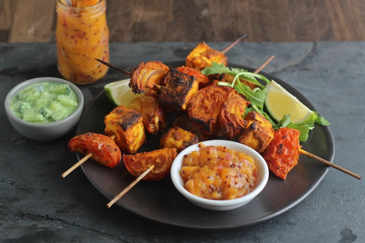 Panner Tikka Kebabs - Vegetarian Barbecue Ideas, Fabulous vegetarian kebabs