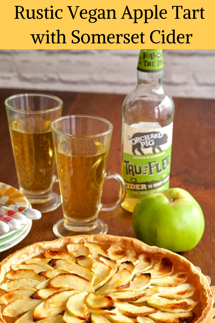Rustic Vegan Apple Tart with Somerset Cider.