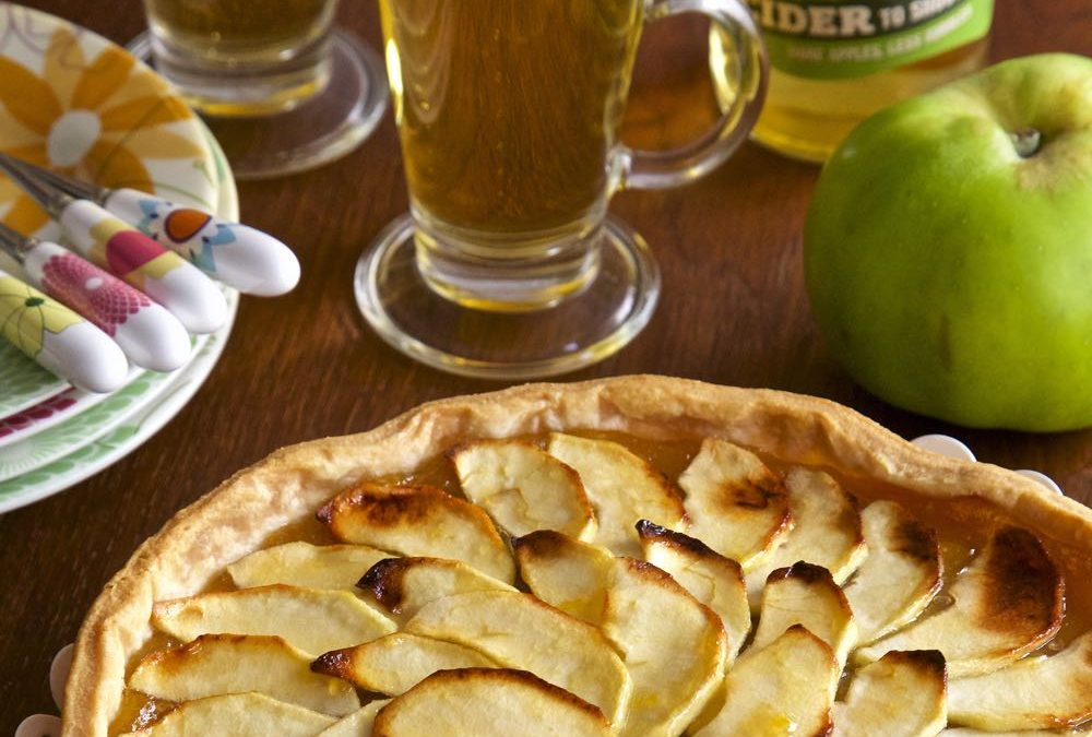 Vegan Apple Tart with Somerset Cider