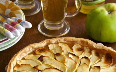 Rustic Somerset Cider and Apple Tart