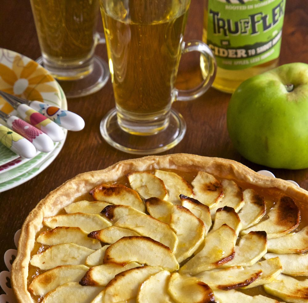 Rustic Somerset Apple and Cider Tart.