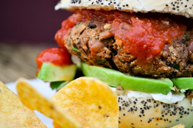 10 minute Vegan Bean Burger