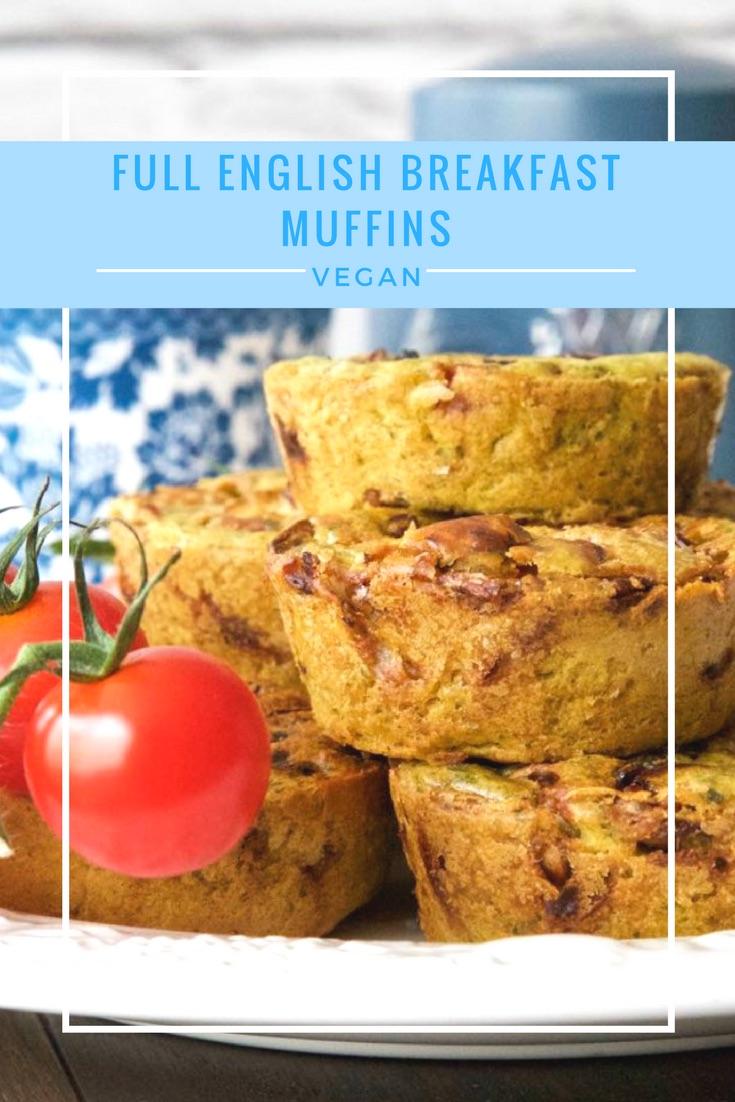 Vegan Full English Breakfast Muffins.