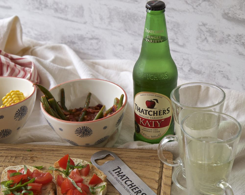 Thatcher's Katy Cider with Vegan Tapas