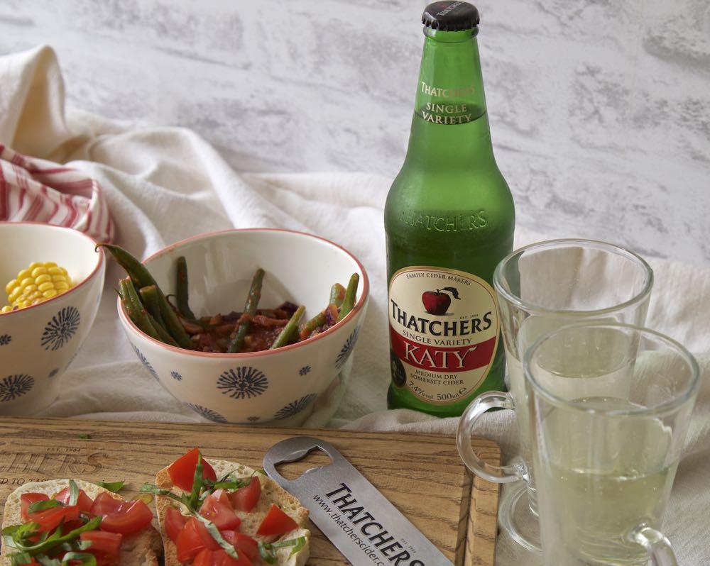 Thatcher's Katy Cider with Vegan Tapas.