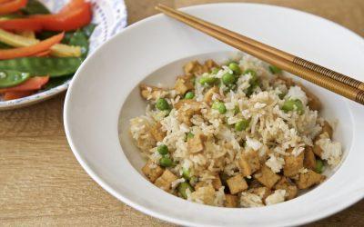 Easy Vegan Egg Fried Rice