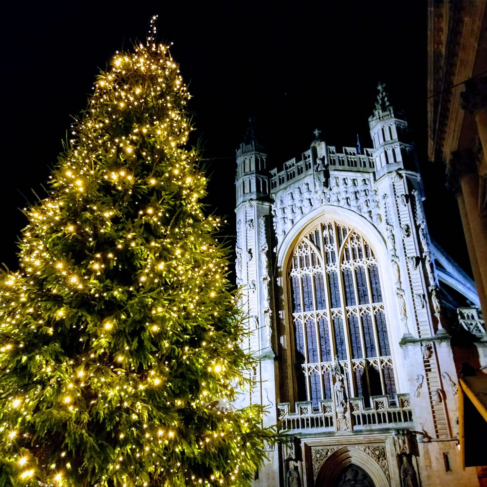Bath Cathedral at Christmas