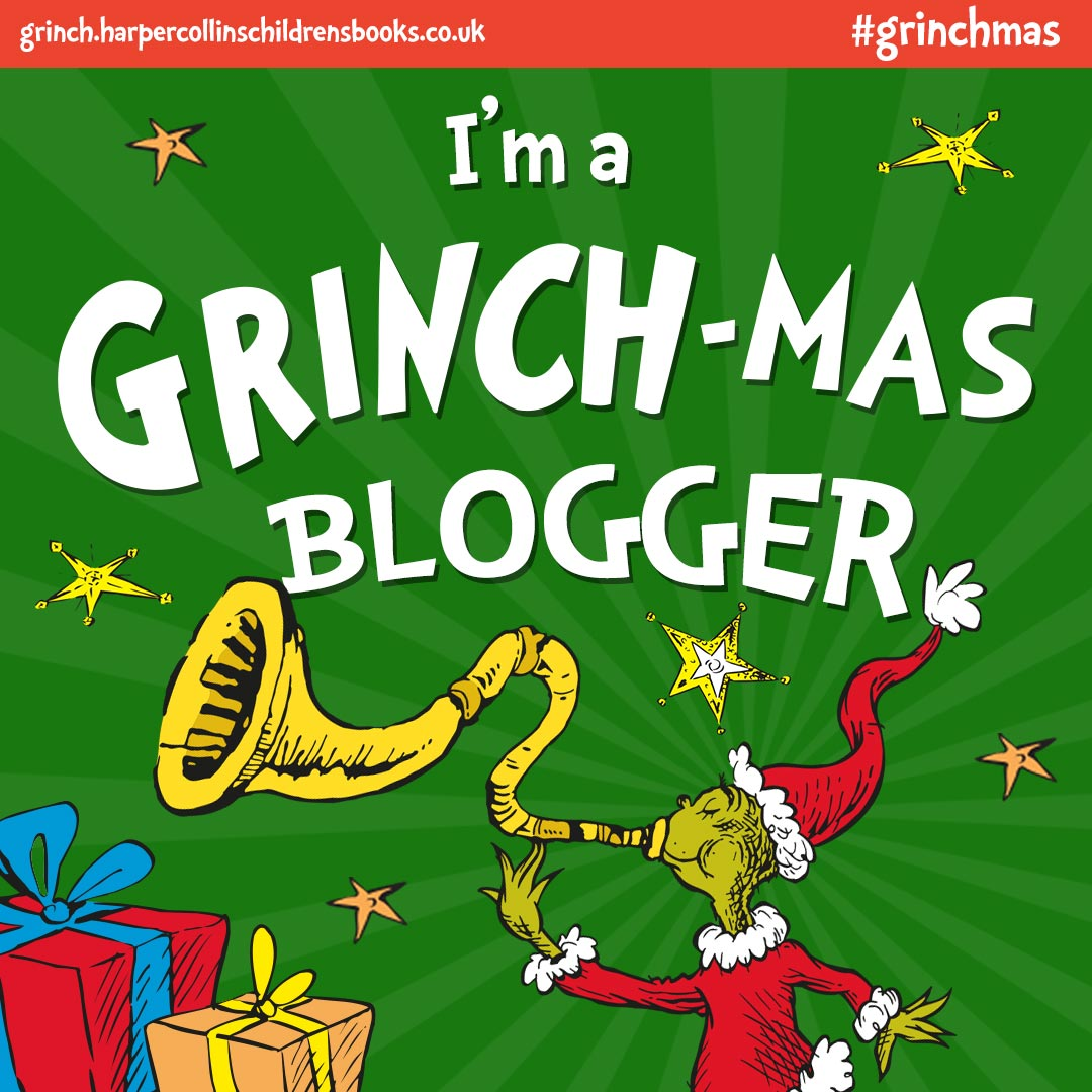 Front cover of the I'm a grinch-mas book.