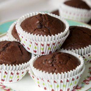 Vegan Double Chocolate Muffins with Orange