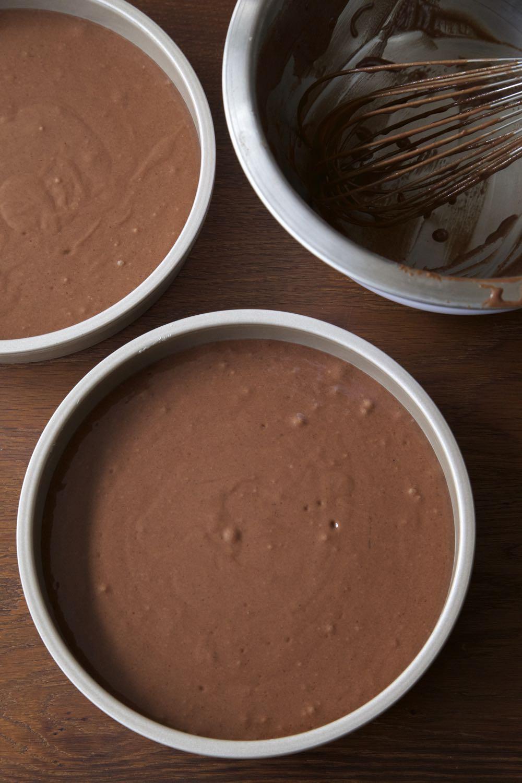 Chocolate cake mix.