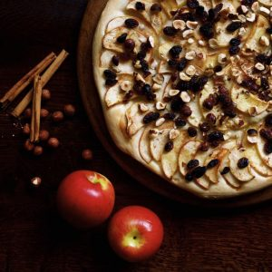 Apple and Hazelnut Pizza with Cinnamon