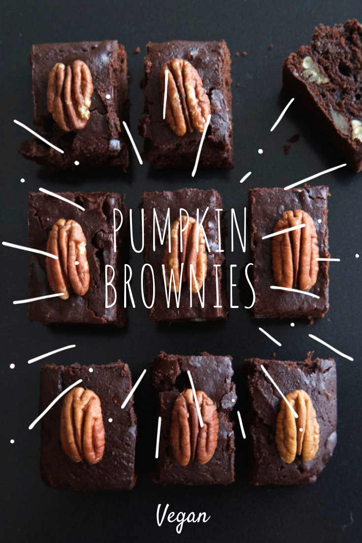 Pumpkin Brownies - Delicious pumpkin and pecan chocolate brownies