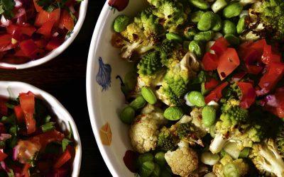 Roast Cauliflower Salad with Sweet Pepper Salsa