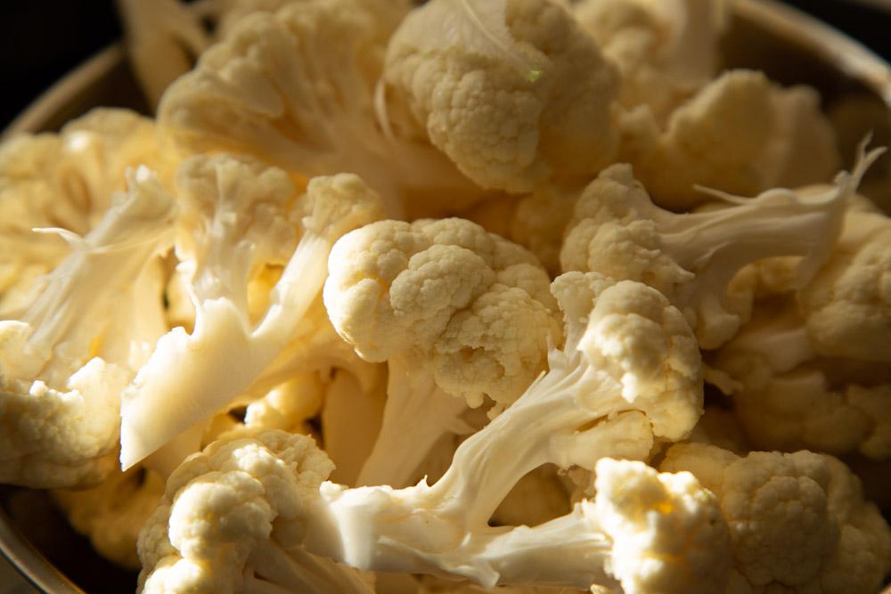 Cauliflower florets.