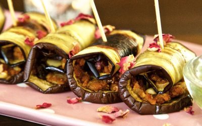 Aubergine Involtini – Pretty Vegan Canapés