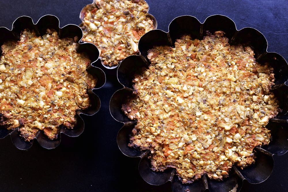 Carrot and Cashew Nut Roast.