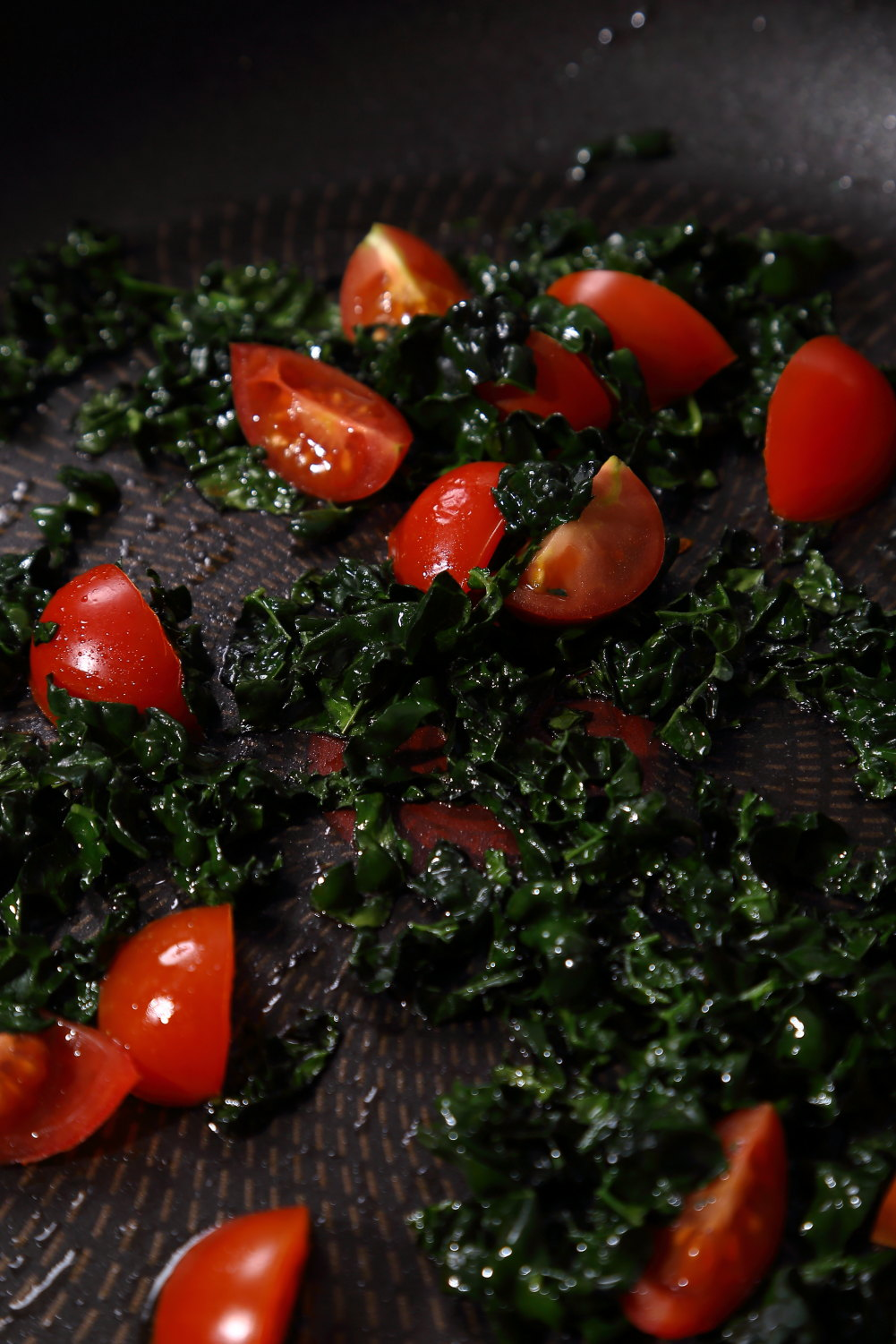Cherry Tomatoes and Cavolo Nero.