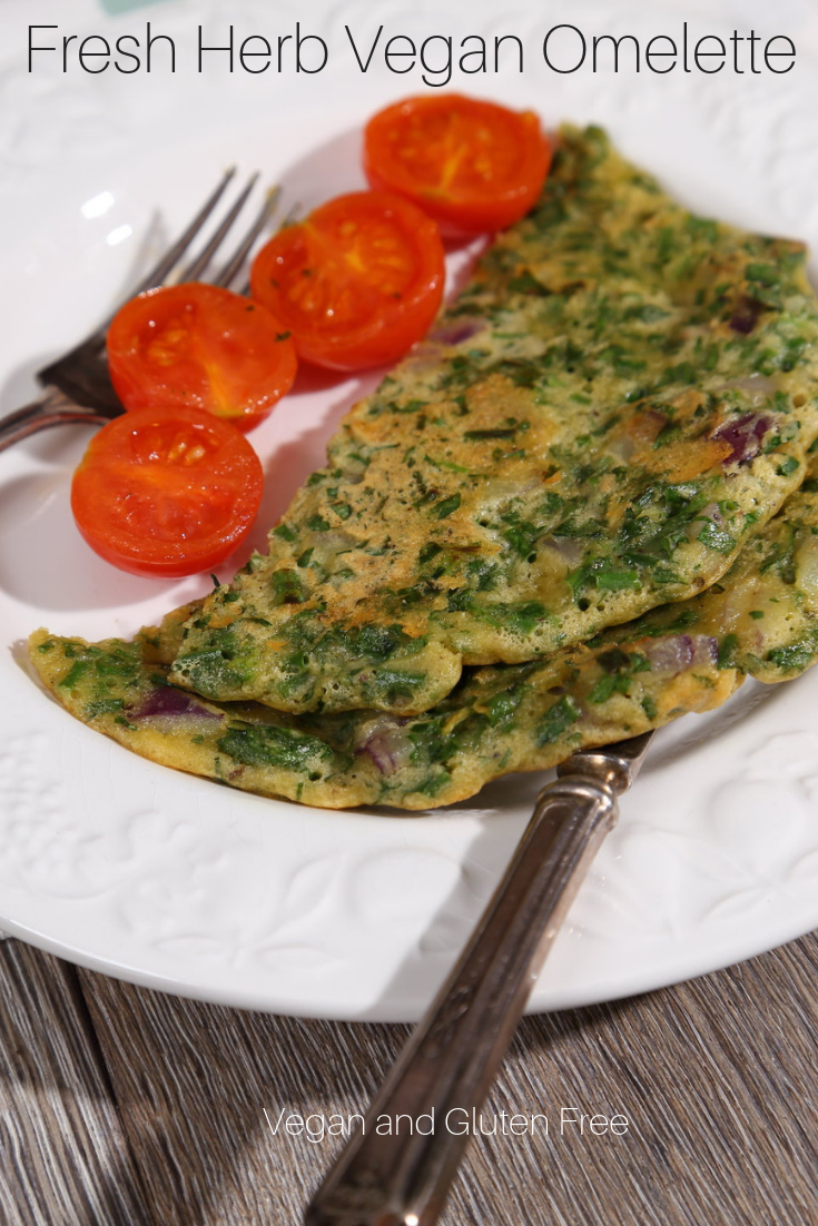 Vegan Omelette with Fresh Herbs - Gluten and Dairy Free!
