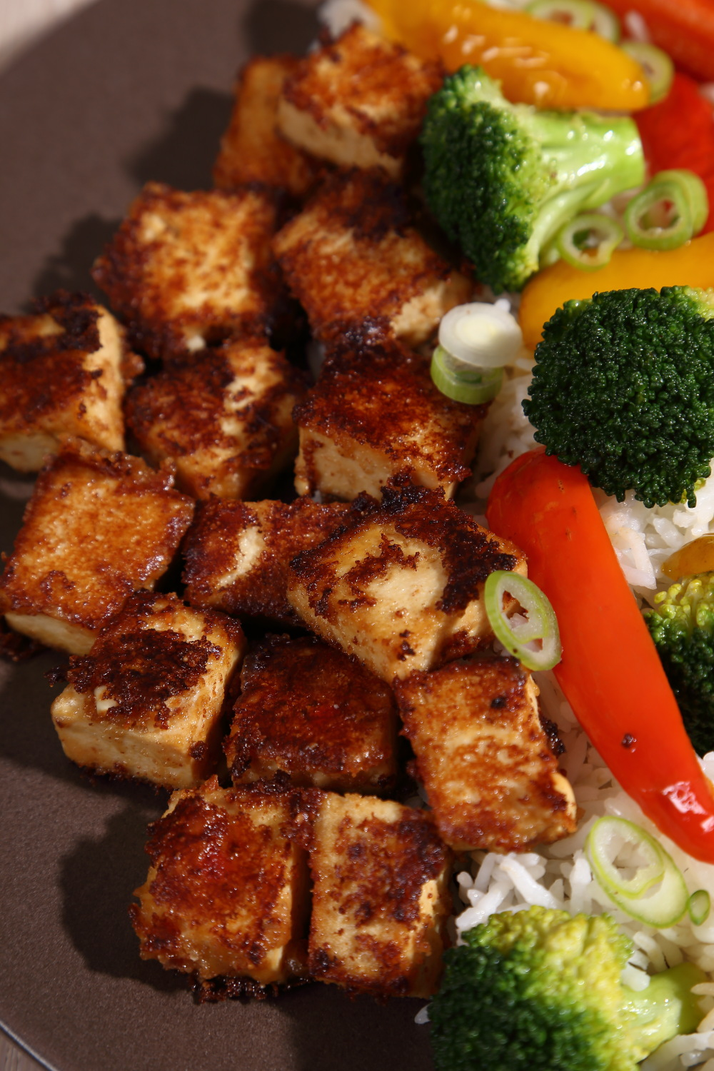 Peanut Butter Tofu is packed full of flavour and so simple to make. it's an easy vegan dinner!