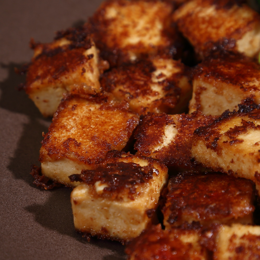 Peanut Butter Tofu is a super simple four ingredient recipe for an easy weeknight dinner.