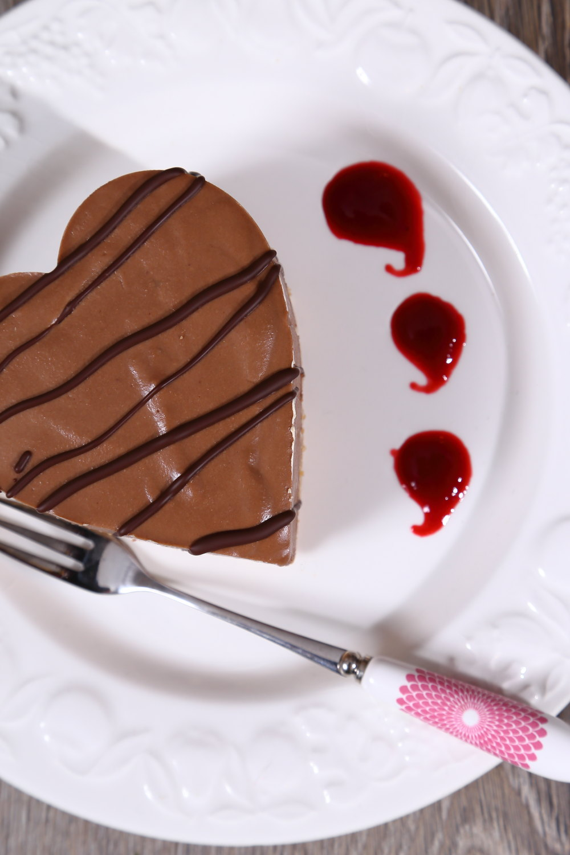 Chocolate Valentine's Hearts, A Chocolate Tart recipe for your vegan valentine.
